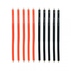 SPCMAKER 5pcs Red Cable and 5pcs Black Cable 60mm 18AWG Silicone Cable Wire DIY For Battery ESC Motor RC Drone